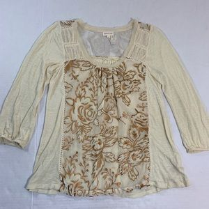 Anthropologie Meadow Rue BOHO Blouse Top M